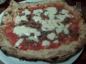 salsiccia pizza