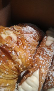 Carlo's lobster tail and cannoli