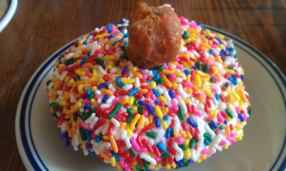 queens comfort funfetti doughnut