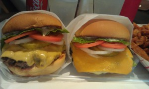 Milk Burger and Portobello Burger