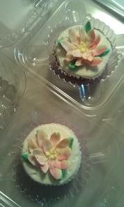 pink icing cupcakes