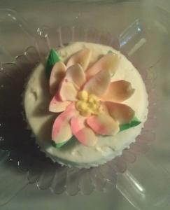 pink icing cupcake