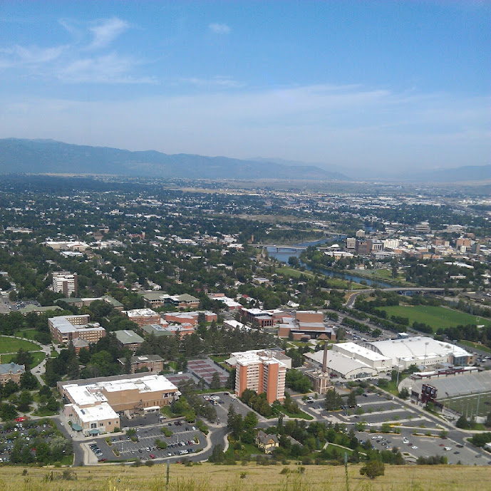 view from the M in Missoula