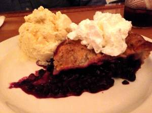 side street cafe blueberry pie