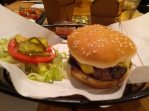burger at high heat