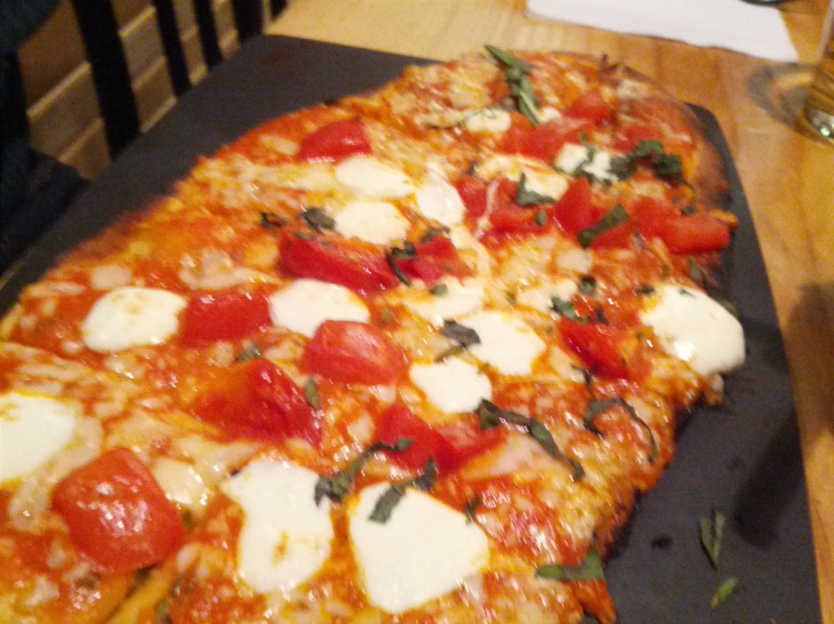 margherita pizza at high heat