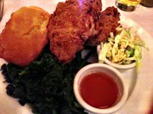 fried chicken dinner at clinton street baking company