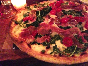 emporio prosciutto and arugola pizza