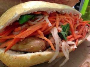 bbq chicken banh mi at baoguette