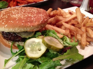 wild turkey smokehouse mushroom and gruyere burger
