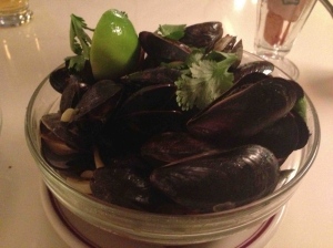 mussels and fries at the bowery diner