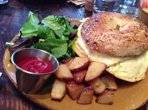 corner shop cafe breakfast bagel