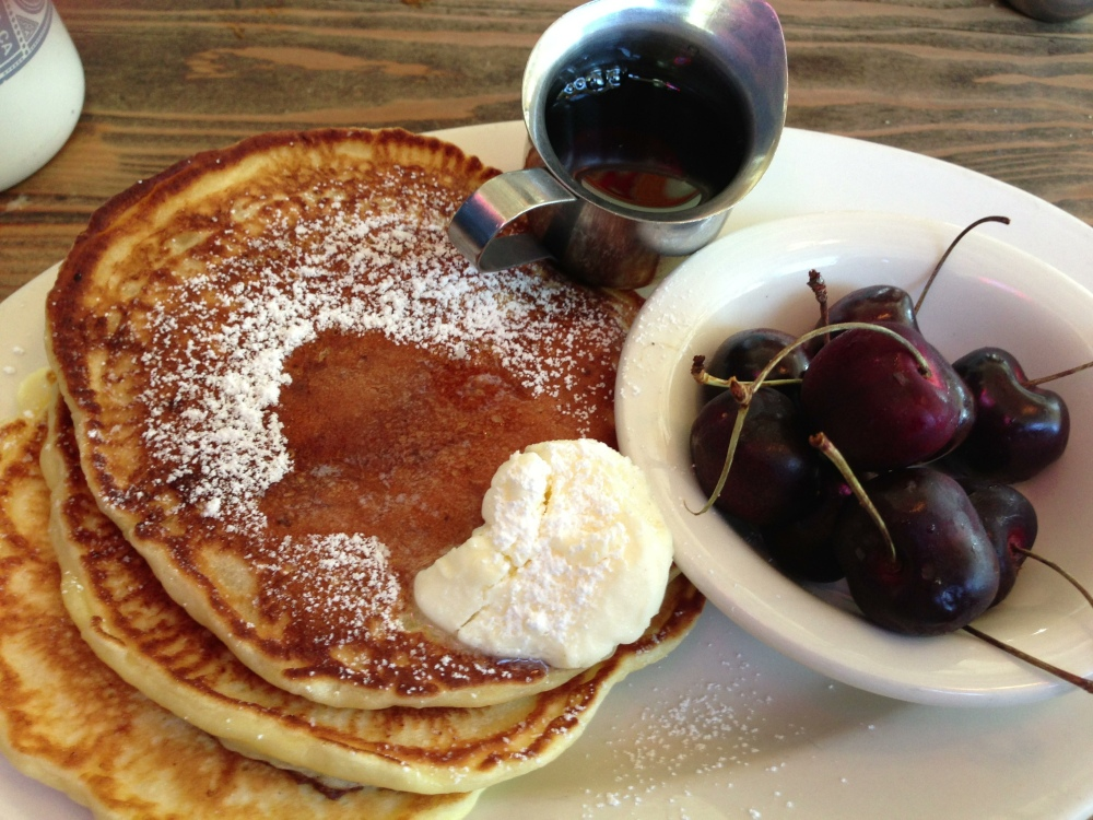 Ricotta Pancakes at the Fremont Diner