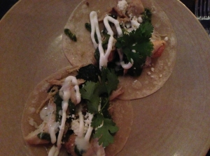 chicken tacos at empellon taqueria