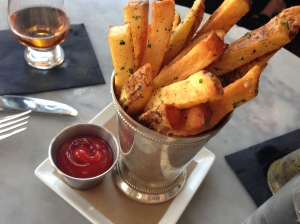 village whiskey duck fat fries