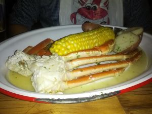murphy's lobster and grill snow crab platter