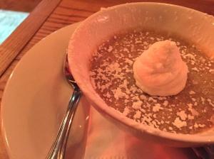 salted caramel pots de creme at Ruby's