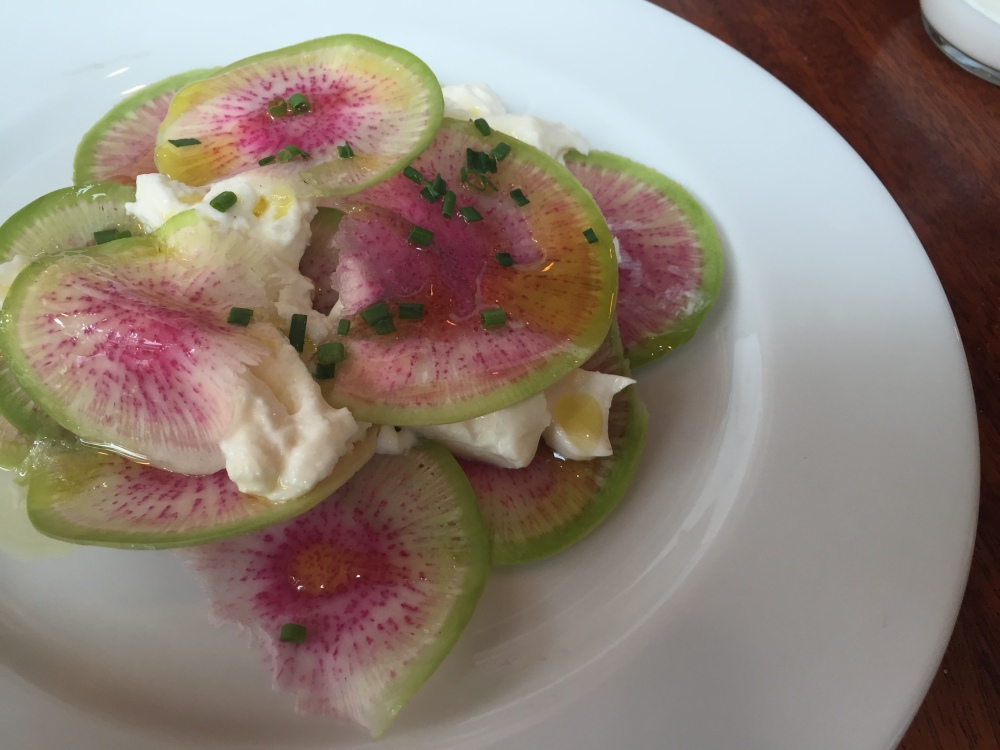 tasty n alder burrata with watermelon radishes