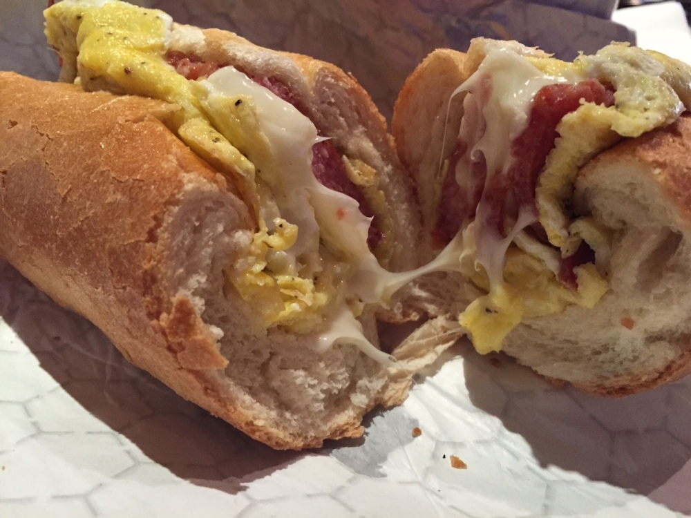 shorty's pork roll taylor ham egg and cheese